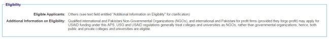 foreign nonprofit eligibility