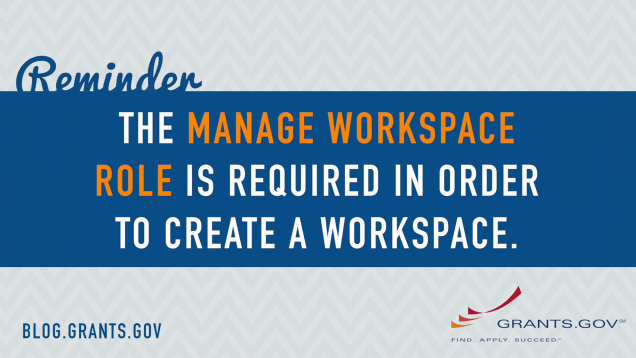 The Manage Workspace Role is required to create a workspace