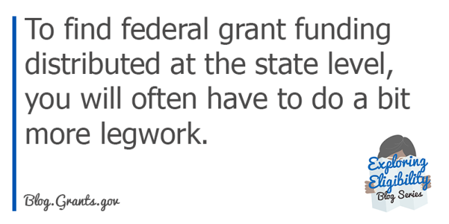 Finding Federal funding at the state level