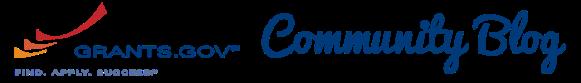 Grants.gov Community Blog logo