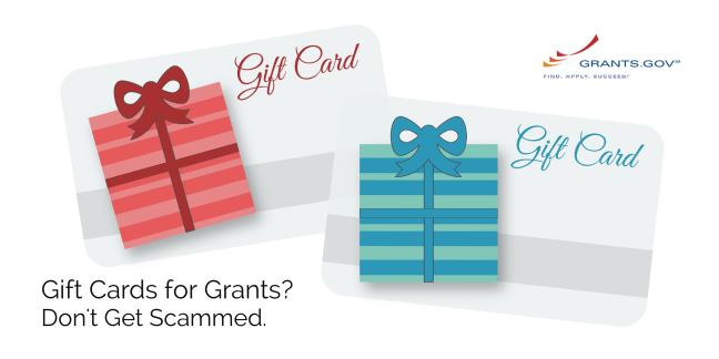 Gift Cards for Grants are a scam
