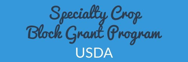 Specialty Crop Block Grant Program