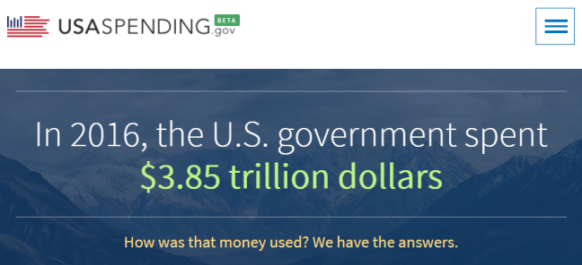 USAspending.gov Homepage