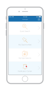 Grants.gov mobile app pilot home page