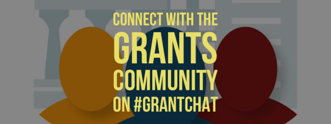 Connect with the grants community on #grantchat