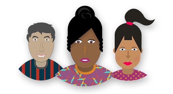 Three applicant profile icons