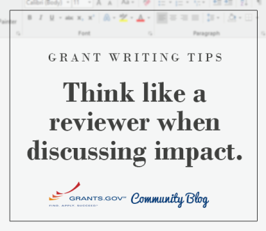 Think like a reviewer when discussing impact.