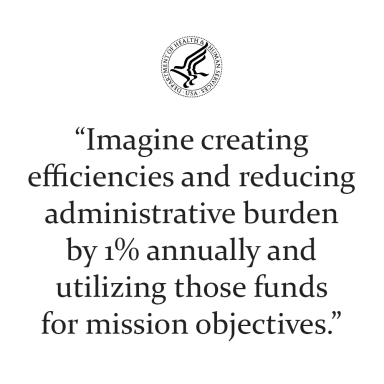 Imagine creating efficiencies and reducing administrative burden by 1% annually and utilizing those funds for mission objectives.