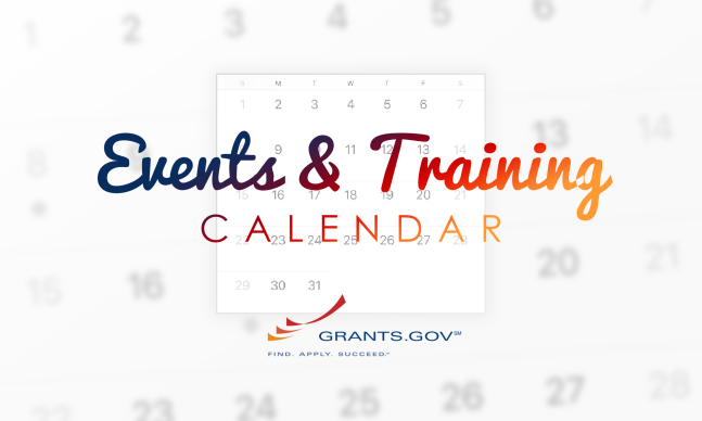 Grants.gov Events and Training Calendar